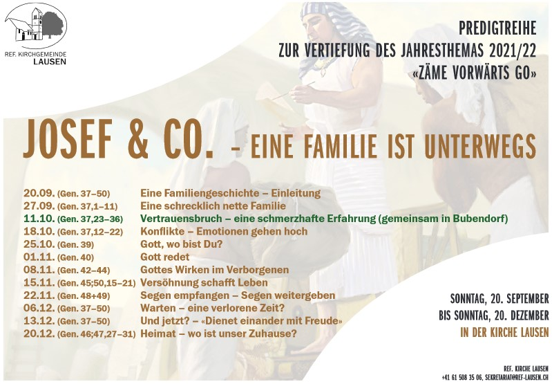 Event, Lager & Seminare » Predigtreihe: Josef & Co.