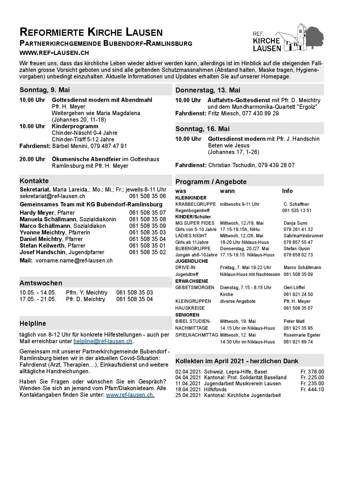 News » Lausner Anzeiger vom 07.05.2021 (Kirchenseite)